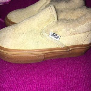 167df7289e1 Vans Shoes - Vans suede fleece slip ons Sz 5.5